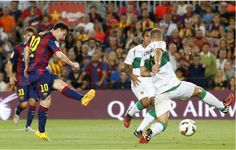 Barcelona gano el primer partido 3-0 Elche  Messi creando insistentemente oportunidades, gym donde Messi ambito dos goles child. http://www.lacamisetasfutbol.com/barcelona-c-40_43.html