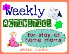 Always in Bluhm: Weekly Activities For Stay At Home Moms...