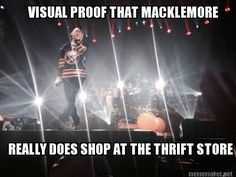 Proof that Mackelmore shops at the thrift store. hockey memes