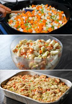 Double the quantity of vegetables in your stuffing. | 13 Healthy Thanksgiving Tricks That No One Will Even Notice