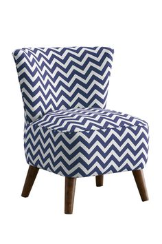 Nice Mid Century Modern Chair Zig Zag Candy   Pink And White Chevron Repeat  Pattern On A Fun Piece Of Furniture