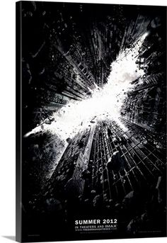 The Dark Knight Rises - Movie Poster Solid-Faced Canvas Print
