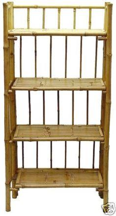 New Bamboo 4 Tier Bookcase Shelf Unit Display ECO