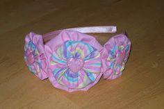 Yo yo flower headband