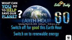 We are celebrating Earth Hour. Are you?