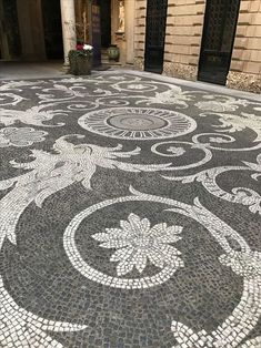 Pebble Mosaic, Stone Mosaic, Mosaic Art, Mosaic Glass, Mosaics, Garden Paving, Garden Paths, Garden Art, Garden Design