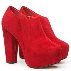 166 block heels boots Juliette red red