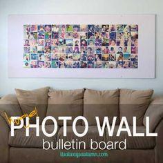 DIY Huge Photo Wall