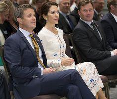 28 September 2016 - The Danish Crown Prince Couple visit the USA: Washington (day 2) - dress by Vilshenko