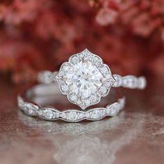 1.90 Ct Oval Cut Diamond 14k Real White Gold Wedding Engagement Bridal Ring Set #AraskaDiamond