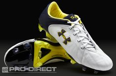Under Armour Football Boots - Under Armour HydraStrike Pro II FG - Firm Ground - Soccer Cleats - White-Navy-Yellow