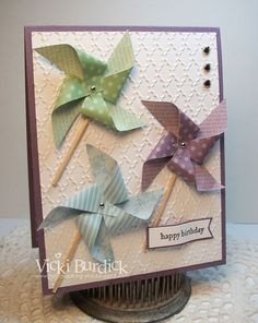 It's a Stamp Thing: Still addINKtive.....Pinwheels from spring 2013