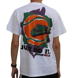 3f854092528 Vintage 90s Nike Just Do It Tennis t shirt. Vintage Nike, Vintage Tees,