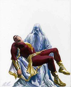 Captain Marvel and the wizard Shazam