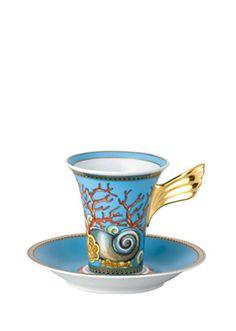 Okay, it's not tea-specific, but… Versace Home Collection Trésors de la Mer Coffee Cup