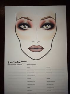 I love doing face charts!