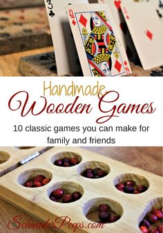 Handmade wooden games are sure to become family herilooms. Learn how to make 10 classic wooden games that will give years of enjoyment to your family and friends in this ebook.