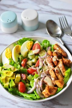 The Best Chicken Cobb Salad (Whole 30, Paleo) | Delishar - Singapore Cooking Blog