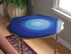 Project Idea: Make a CB2 Blue Agate Table for Under $60 | Apartment Therapy