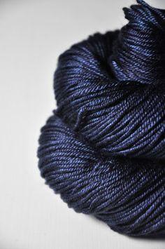 Late hour  Silk/Merino DK Yarn superwash by DyeForYarn on Etsy, €19.50