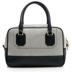 J.Crew Canvas and leather satchel