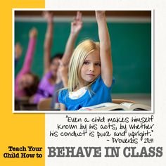 Behaving in Class = Self-Control + Respect  Download Lesson 3: How to Teach Your Child to Behave in Class   #classroom #school  http://www.susanme.com/2012/09/behaving-in-class-self-control-respect/