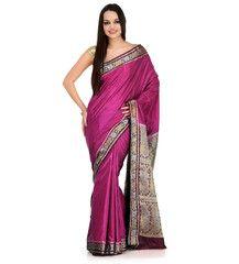 Purple Zari Woven Art Silk Saree | Fabroop USA | $27.99 |