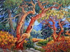 Greta Guzek A Path Less Travelled Arbutus Tree, Mermaid Island, Van Gogh Art, Forest Painting, Canadian Artists, Cool Paintings, Landscape Art, Amazing Art, Vancouver