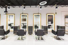 Salons of the Year Dasi Salon - Awards & Contests - Salon Today Barber Shop Interior, Hair Salon Interior, Barber Shop Decor, Schönheitssalon Design, Design Salon, Beauty Salon Design, Spa Interior Design, Home Office Design, Barber Chair For Sale
