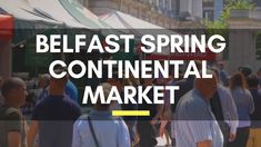 Belfast Spring Continental Market 2018 - Things to do in Belfast, Northe. Belfast City Centre, Visit Belfast, Belfast Northern Ireland, Travel Videos, Interesting History, Titanic, Places To See, Travelling, Things To Do