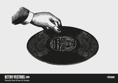 Vintage Record Vector   Vintage Vectors   Royalty Free   Free of Charge   Commercial Use   Free Retro Vectors