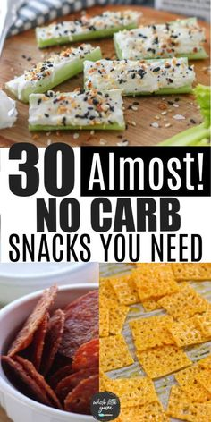 30 almost zero carb snacks to make and buy that are low carb and keto friendly. You'll love these easy keto snack recipes and meal ideas. No Carb Snacks, Diabetic Snacks, Low Sodium Snacks, Diabetic Food List, Low Sugar Snacks, Diabetic Breakfast Recipes, Low Carb Appetizers, Comida Keto, Snacks To Make