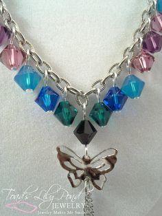 Multi color statement butterfly necklace by ToadsLilyPondJewelry, $37.95