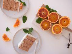 blood orange layer cake