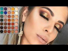 Morphe x Jaclyn Hill Palette Makeup Tutorial // Warm Toned Half Cut Crease - YouTube