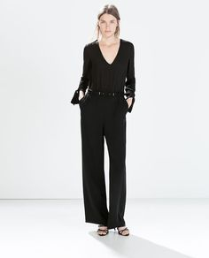 Image 1 of JUMPSUIT WITH WRIST TIES from Zara