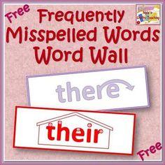 Free Word Wall of Easily Confused Words - Homophones