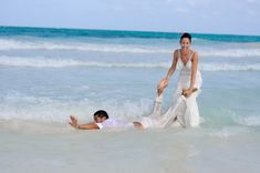 Underwater Trash the Dress in Tulum Cenotes and Beach – Sinead+Ulises   Riviera Maya Wedding Photographer