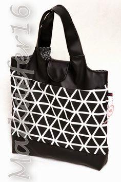 Einkaufstasche KURT, in schwarz-weiß