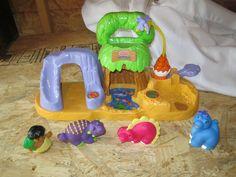 fisher price little people dino dinosaur landbaby land play set cave man #fisherPrice