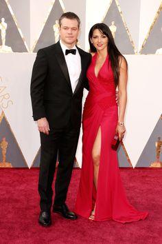 Matt Damon and Luciana Damon in Versace @ 2016 Oscars
