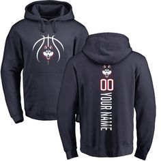 UConn Huskies Basketball Personalized Backer Pullover Hoodie - Navy