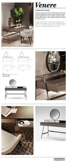 Gallotti&Radice_Venere, design Carlo Colombo Writing wooden desk