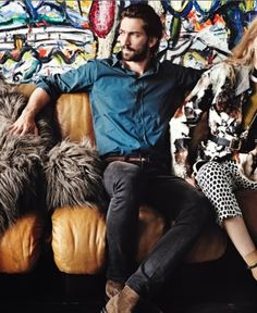 Michiel Huisman in Vogue October 2014. He's everywhere these days. I hate to say I told you so, but… Shot by Mario Testino Styled by Grace Coddington