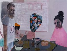 Catalogue Essay: Aubrey Levinthal at Nancy Margolis - Two Coats of Paint Female Painters, David Hockney, Mirror Image, Memento Mori, Muted Colors, Archetypes, Dark Circles, Scene, Fine Art