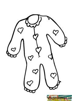 molde de pijama infantil para colorir - Pesquisa Google