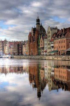 Poland Travel Inspiration - Reflections - Gdansk, Poland.