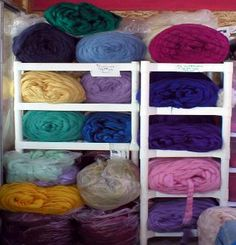The Sheep Shed Studio. very cheap place to buy bulk roving, though not nearly as beautiful as the other ones I've found