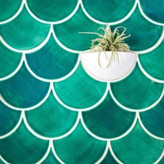 On the blog: 6 inspired concepts to use our most popular color - Sea Mist! Large Moroccan Fish Scales - 1017E Sea Mist