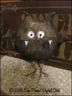 Primitive whimsy art doll bat halloween country decor by emsprims, $19.00